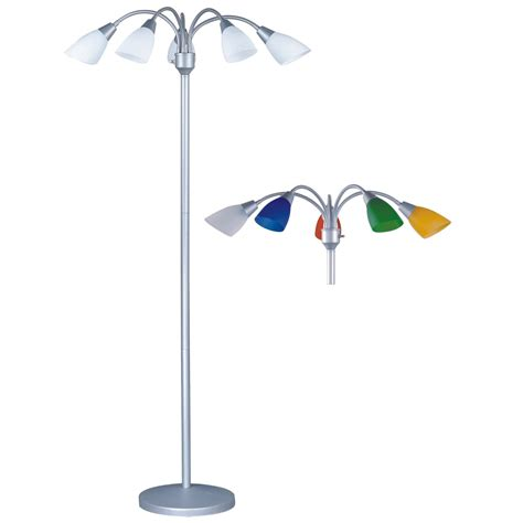 adjustable arm floor l light adjustable arm floor l in silver with white and