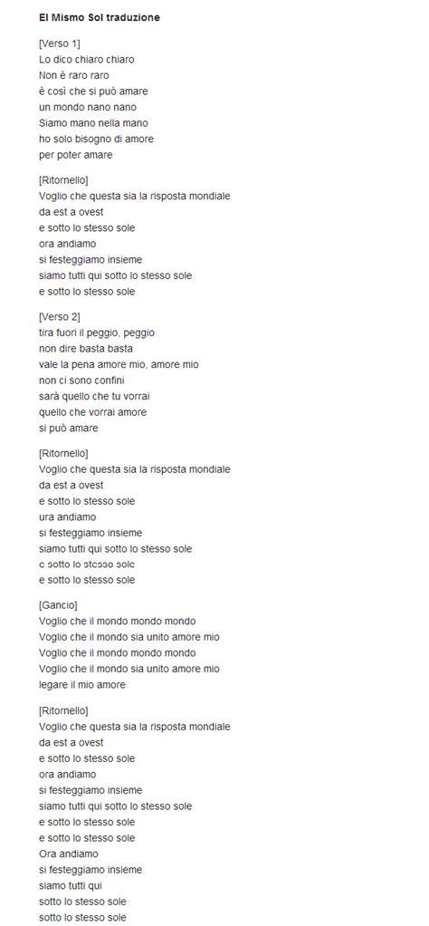 testo spagnolo traduzione testo el mismo sol alvaro soler lyrics
