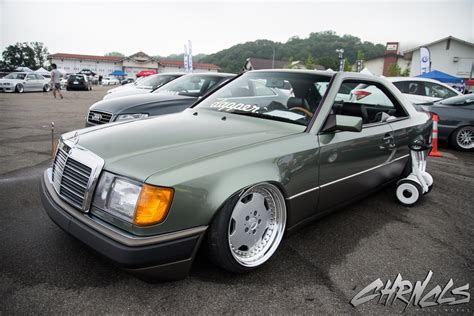 bagged mercedes amg 90s mercedes w124 coupe bagged on amg wheels