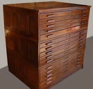Blueprint Flat File Cabinet Flat File Cabinet Antique Wood Art Plan Map Blueprint