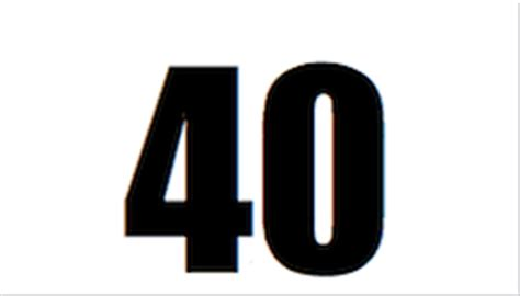 Printable Number Cards To 40   6 best images of printable number 40 printable numbers 1