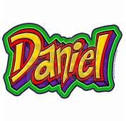 Daniel Graffiti Letters Name Wall Decal By ADMIN CP3178358