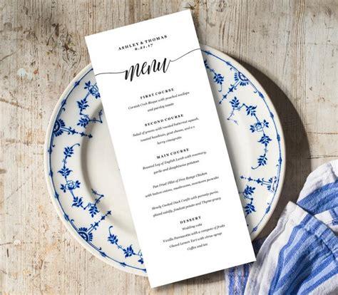 menu card template pdf menu card template rustic dinner menu wedding menu card