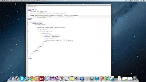 tutorial bootstrap menu twitter bootstrap tutorial 11 drop down menu youtube