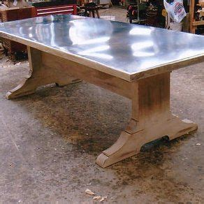 galvanized metal top dining table 10 best images about industrial chic on search