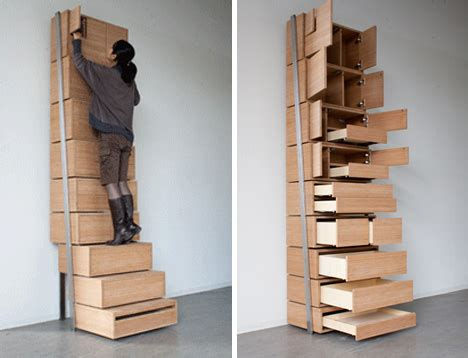 Save Storage Space Space Saving Staircase Shelves For Floor To Ceiling Storage
