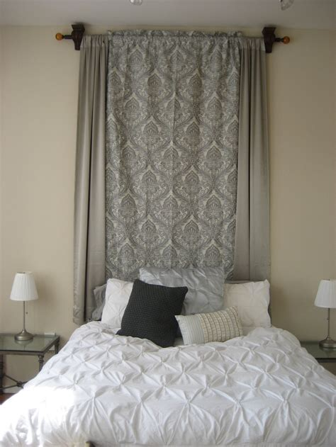 curtain headboard ideas homemade headboard my dallas loft oh i miss it