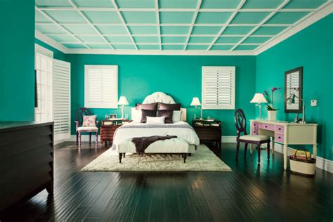 teal bedroom makes a dramatic and colorful statement bold colors and oasis