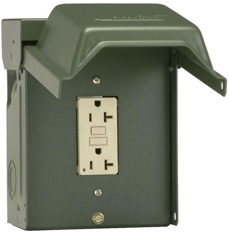 backyard outlet 20 amp backyard outlet with gfi receptacle weather