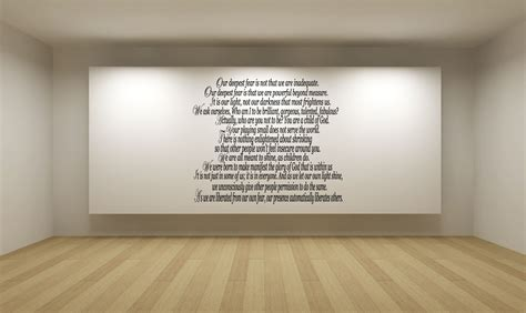 White Wall Stickers our deepest fear poem vinyl wall art stickers decal