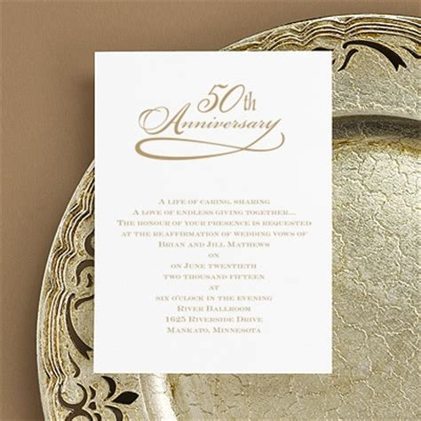 invitation wordings for 50th wedding anniversary classic 50th anniversary invitation invitations by