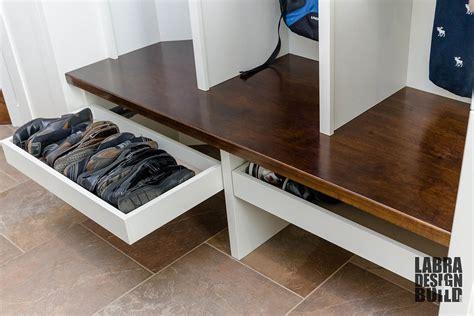 laundry room shoe storage laundry mudroom renovation novi mi labra design build