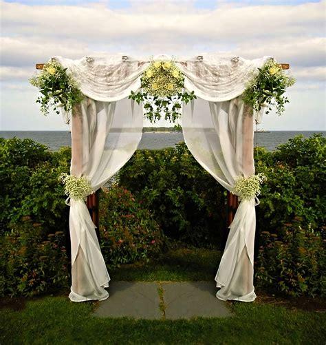 wedding arbor fabric ceremonies garden designs by kristen