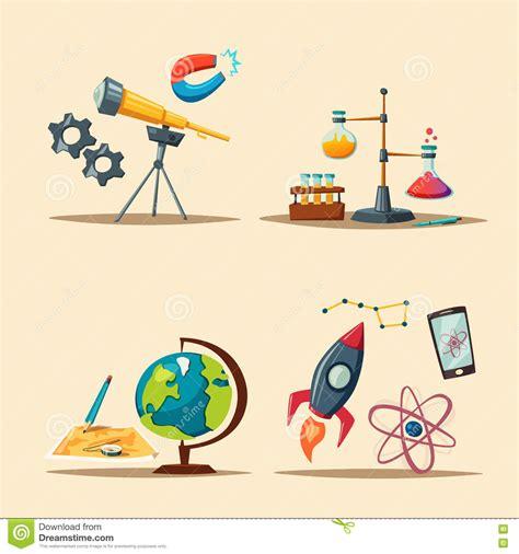 cartoon themes vector set of science logo cartoon vector illustration