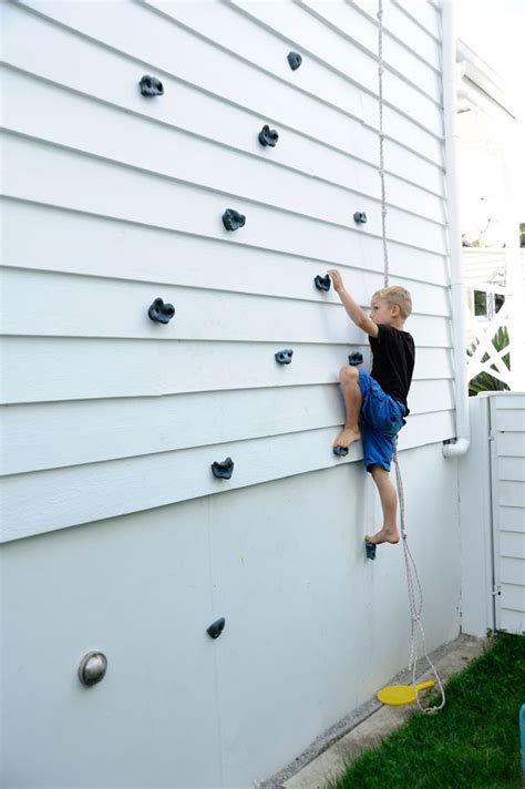 diy outdoor climbing wall 10 amazing diy outdoor projects for kids reliable remodeler