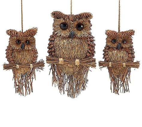 owl creations from pine cones and fluff pine cone twig owls pinecone owls owl ornament and pinecone