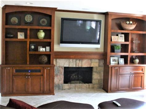 Built In Cabinets Around Fireplace by Custom Entertainment Centers Designed Built