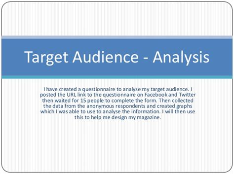 target market analysis template at target audience analysis