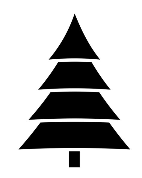 black and white christmas tree clipart clipart best