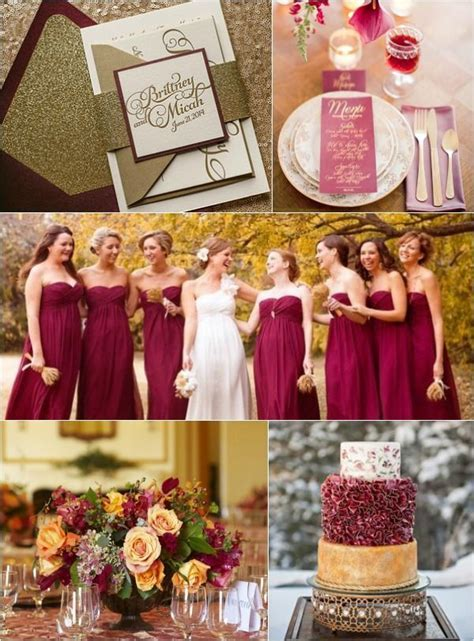 2015 Color Trends   Red Marsala & Gold, Wedding, Bat