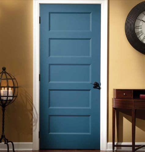 painted interior doors blue painted mahogany shaker style interior doors home