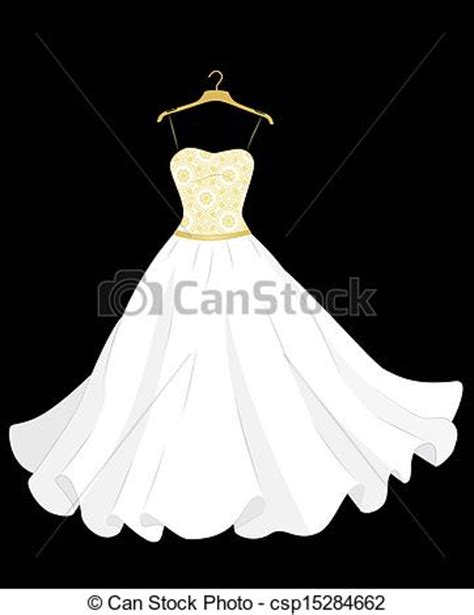 Wedding Dress Clip On by Wedding Dress On Hanger Clipart Clipart Suggest