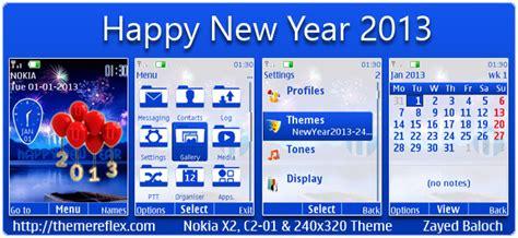 nokia 5233 themes happy new year happy new year 2013 theme for nokia series 40 themereflex