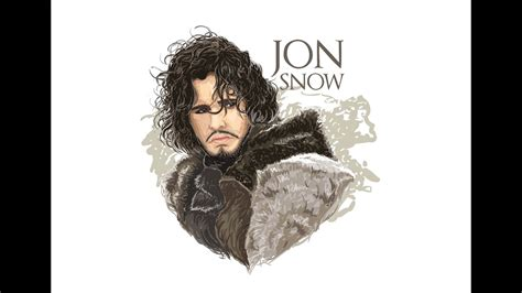 vector tutorial jon snow game  thrones illustration