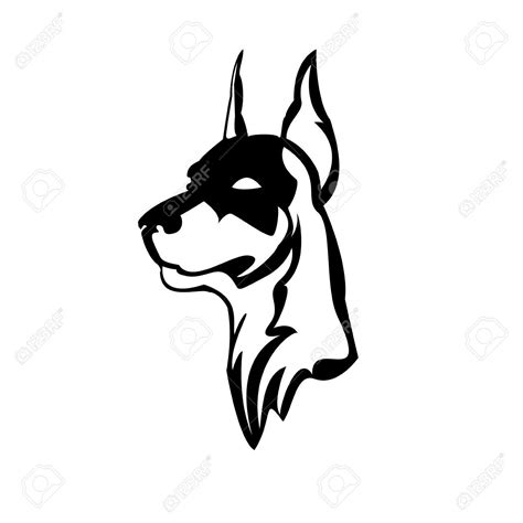 doberman tattoo designs doberman silhouette let my be their canvas