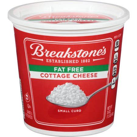 free cottage cheese breakstone s small curd free cottage cheese 24 oz