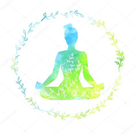imagenes yoga vector silueta de mujer yoga vector de stock 122060290
