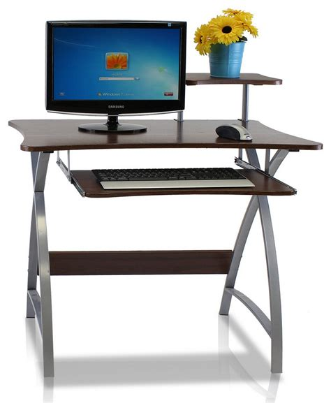Narrow Compact Computer Desk Home Living Space Saving Desk For Small Space Living
