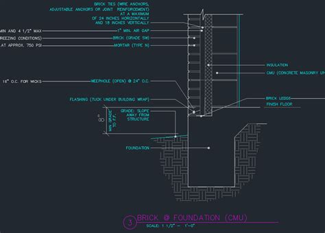 curtain wall adalah brick veneer details cad files dwg files plans and details