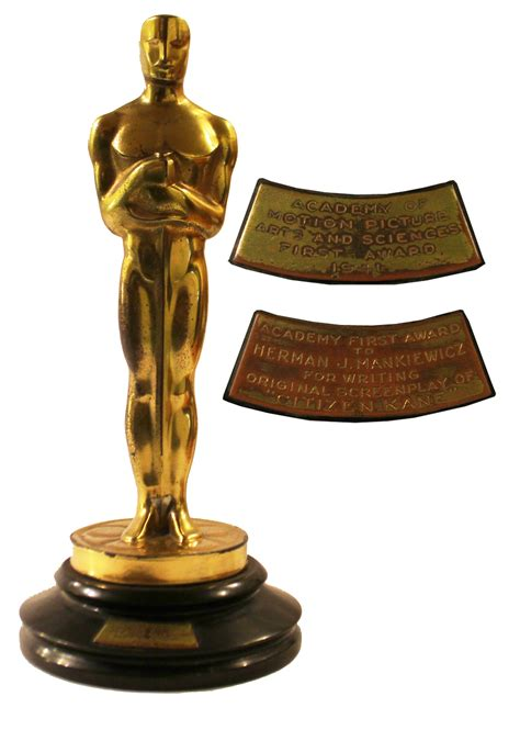film oscar award original oscar awarded to herman mankiewicz for writing