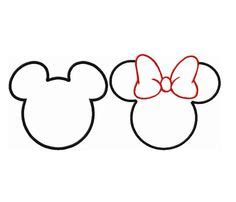minnie mouse silhouette template clipart best clipart