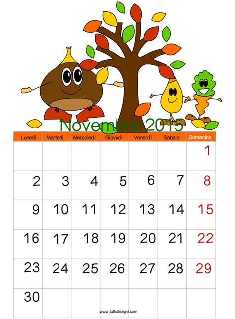 Calendario 2015 Per Whatsapp Calendario 2015 Novembre Tuttodisegni
