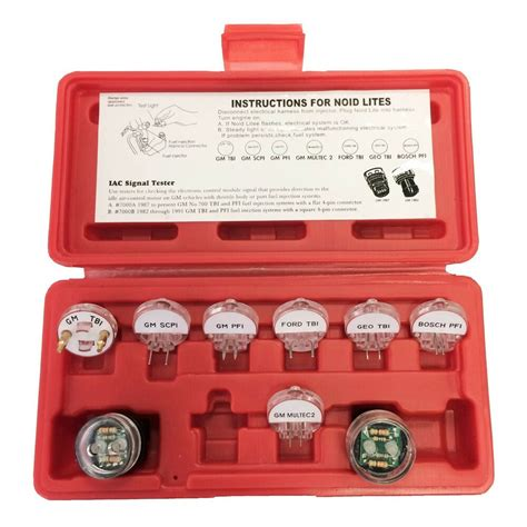 pc electronic fuel injection signal noid lite tester light set gm ford bosch ebay