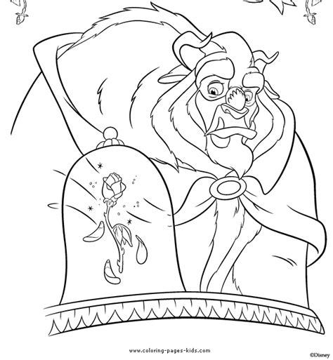beauty and the beast rose coloring pages coloring pages