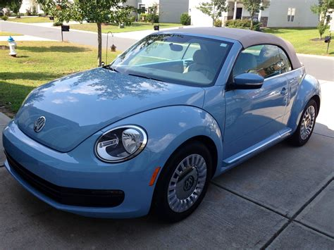 our new bug 2013 denim blue vw beetle convertible we