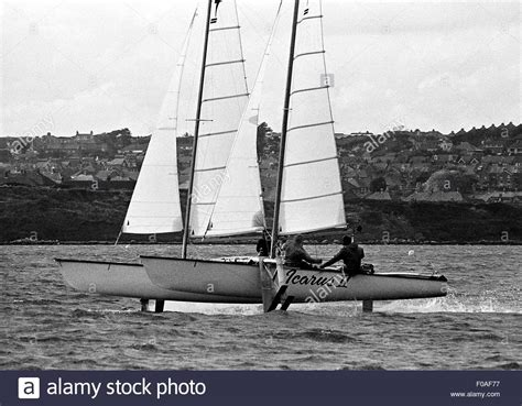 hydrofoil catamaran speed record ajaxnetphoto oct 1977 weymouth england icarus ii