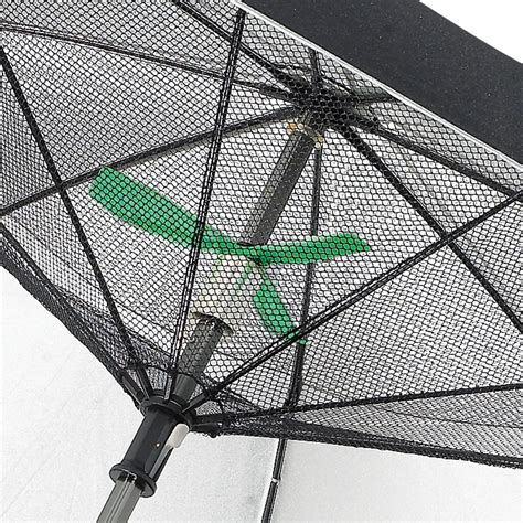 with a fanbrella uv reflecting umbrella with motorized fan the green