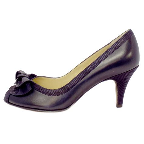evening shoes kaiser satyr peep toe evening shoes in navy leather