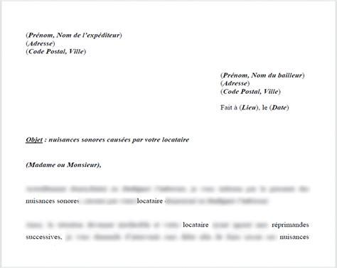 Exemple De Lettre Nuisance Sonore pdf modele lettre voisin pour fete