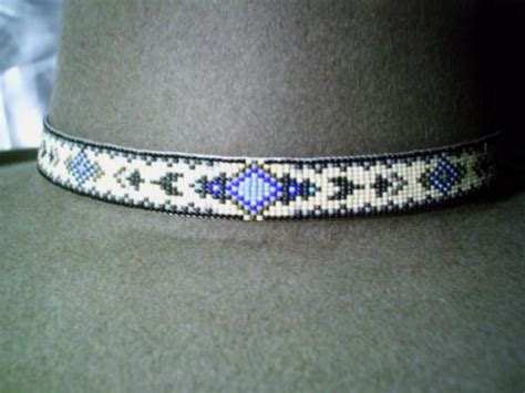 indian beaded hat band tapestry beaded hat band american style beaded hat