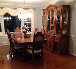 Dining Room Table And Hutch Sets Thomasville Dining Room Table And 6 Chairs W 2 Hutch And China Cabinet Ebay
