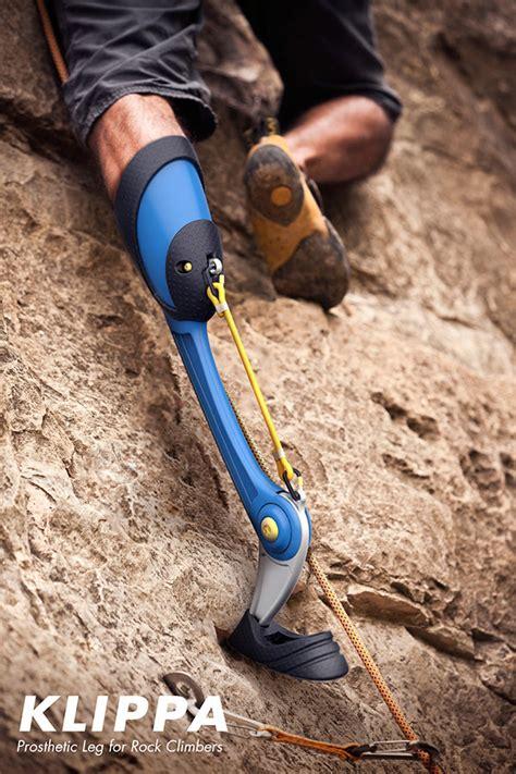prosthetic leg for a prosthetic leg designed for rock climbers
