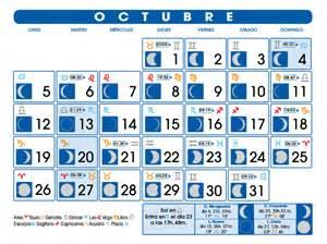 Calendario Lunar Octubre 2017 Calendario Lunar Octubre De 2015