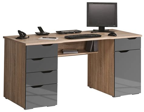 computer desk maja malborough oak grey computer desk