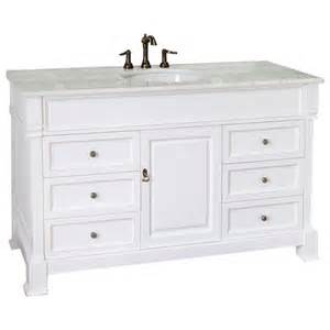 White 60 Inch Vanity Single Sink 60 Inch Single Sink Bathroom Vanity With White Marble