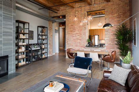 Home Decorators Atlanta river north loft industrial living room chicago by